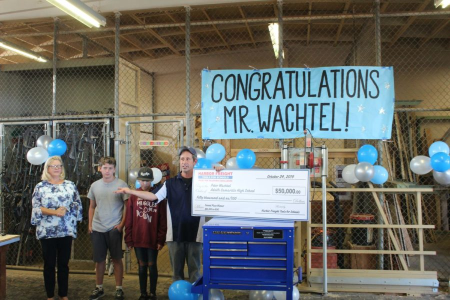 Cam High teacher Mr. Peter Wachtel recently received second place in Harbor Freight's Tools for Schools competition.