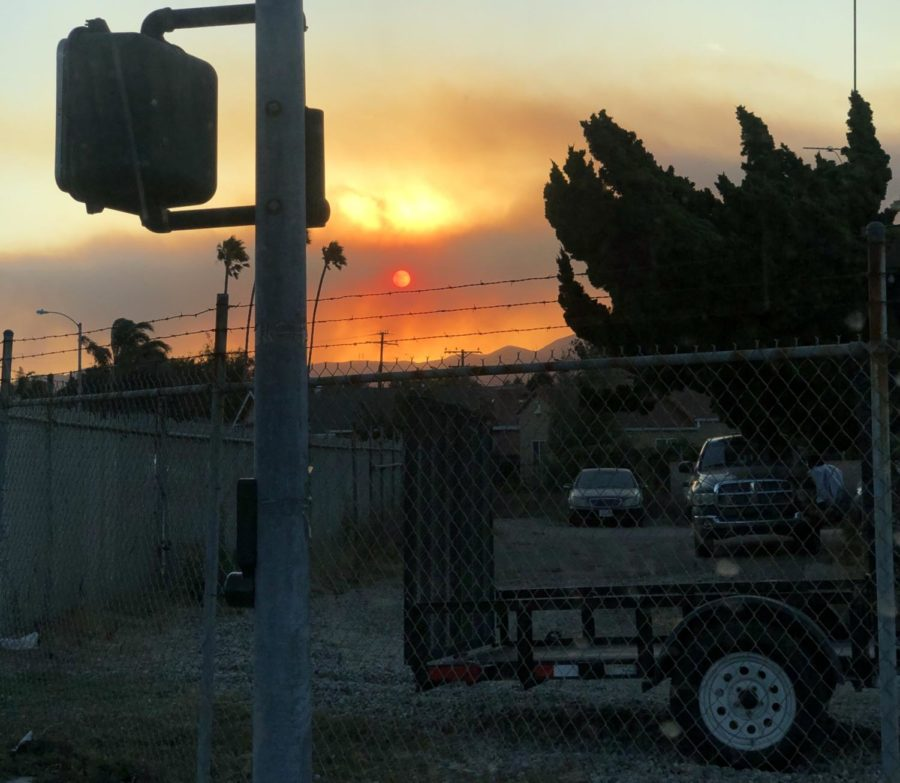 The Easy Fire, burning just 12 miles east of Camarillo, covered the city in smoke on the morning of October 30, 2019.