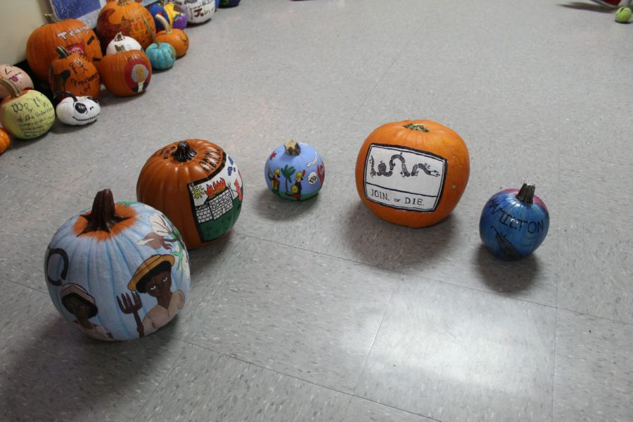 Ms. Beckman-Regalatto's APUSH class painted pumpkins that had a historical background, and they came out pretty good!
