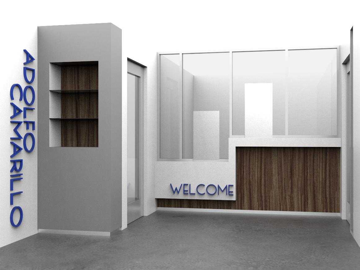 Architectural digital design of the remodeling of ACHS office lobby.