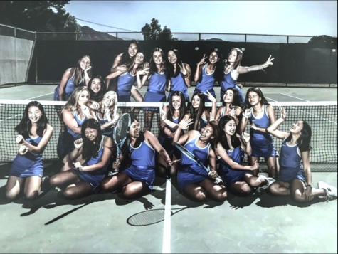 Cam High Girls' Tennis won 15 consecutive, advancing them to the CIF Semifinals.