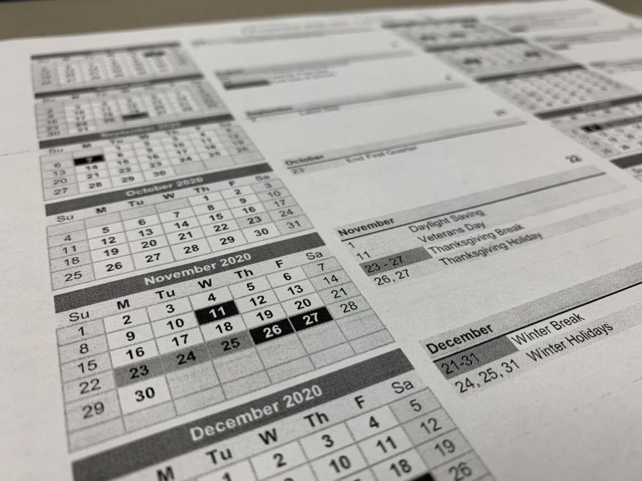 Pictured is a copy of the new schedule that was recently voted on.