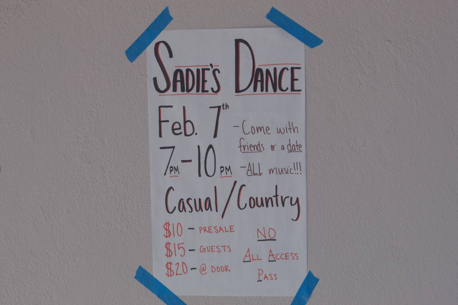 Cam High's Sadie Hawkins Dance, which was originally set for Jan. 7, 2020, was cancelled due to low ticket sales.