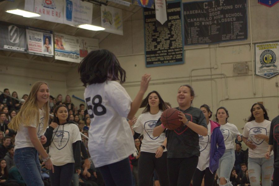 Cam High's Special Olympics Basketball game versus Rio Mesa, which was held in the Cam High Gym, ended with Cam High winning 22-14.