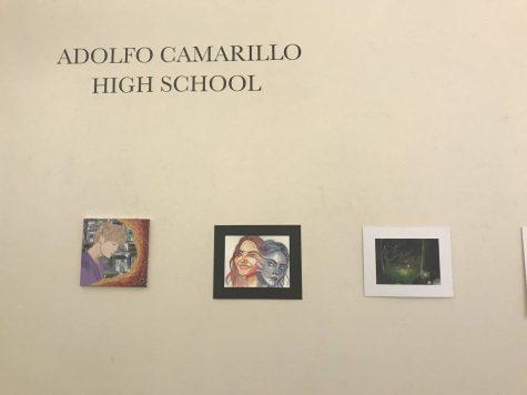 Chaos and Control, an art showcase held at Channel Islands University, featured Cam High artists, including Kaela Anderson, Gabby Larsen, Trinity Alvarado, Jenin Jomaa, Grace Cornejo, and Daniel Mendoza.