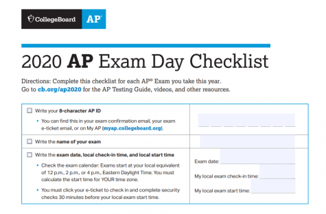 Online AP exams was College Board