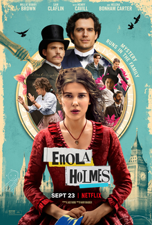 The official poster of Enola Holmes