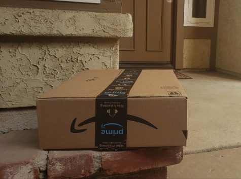 Amazon Package sitting on the porch.
