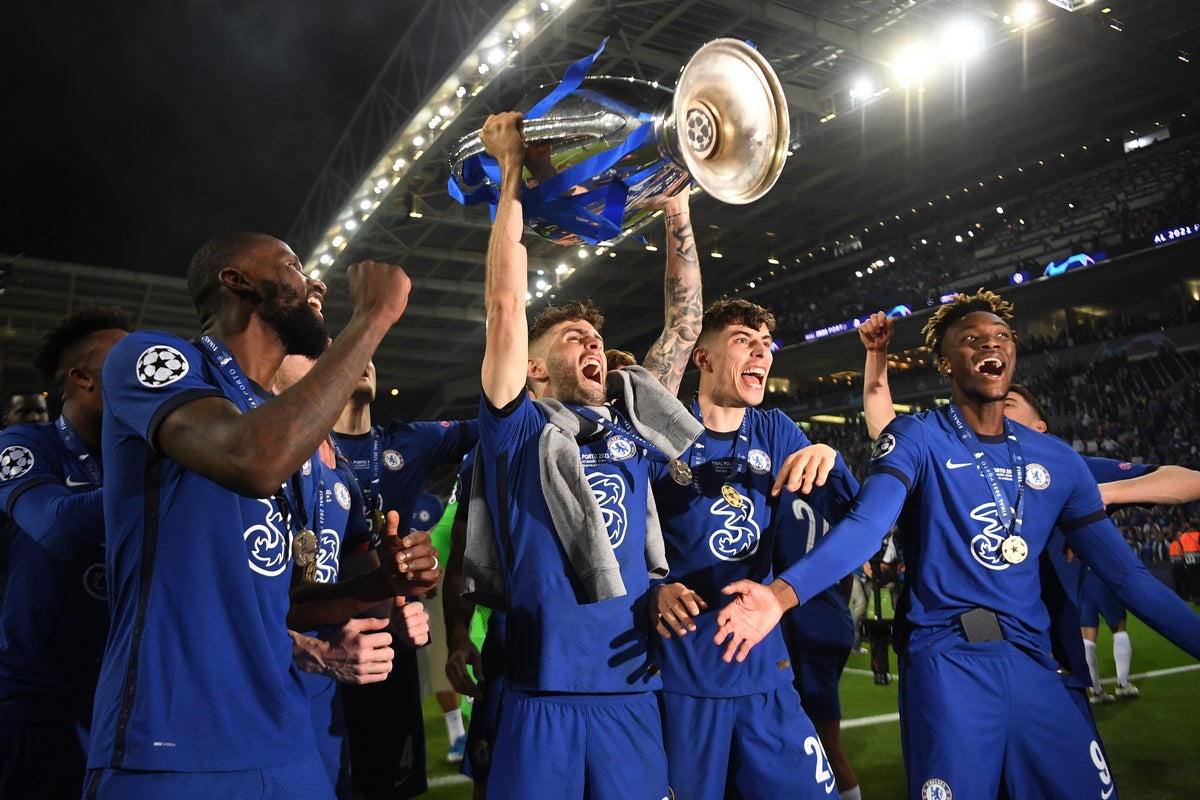 """Christian Pulisic, also referred to as """"Captain America,"""" being the youngest American to ever lift the Champions League trophy."""